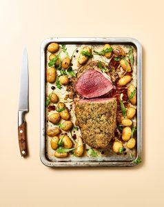 Photo culinaire- Roti boeuf - 7 min en cuisine - Hachette - ©Maud Argaïbi