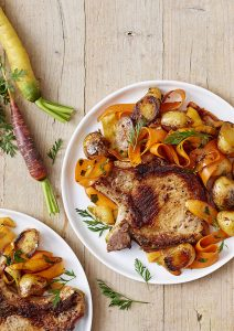 Photo : Côte de porc et ses légumes