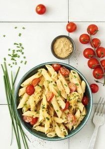 Penne poulet gingembre